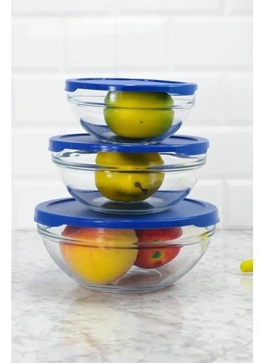 Paşabahçe Chefs Kapaklı 3 Lü Cam Saklama Kabı Seti Renksiz